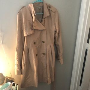 Gap Pale Pink Trench Coat